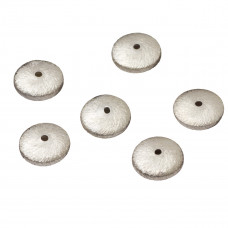 Srebrny dysk satynowy, Ag925 10mm