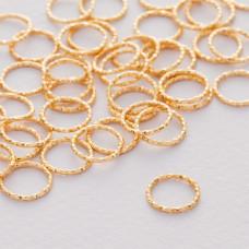 Srebrny łącznik  koło diamentowe ag925 złocone 15.5mm