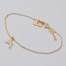 Bransoletka złocona z wróżką Ag925 17 cm