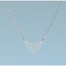 Srebrny rodowany naszyjnik łuski, próba Ag925 44-46cm