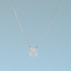 Srebrny rodowany naszyjnik trójkąty geometryczne, próba Ag925 44-46cm