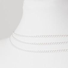 Srebrny łańcuszek romb, próba Ag925 2mm