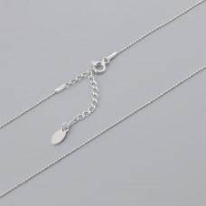 Srebrny łańcuszek kosteczka 45cm z przedłużką, Ag925
