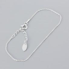 Srebrna bransoletka simple z przedłużką, Ag925 18cm