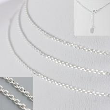 Srebrny łańcuszek simple 50cm, Ag925