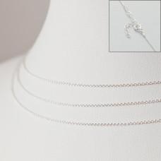 Srebrny łańcuszek z przedłużką ankierka gładka, próba Ag925 44cm