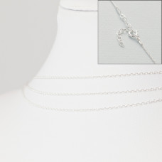 Srebrny łańcuszek z zapięciem forza, próba Ag925 45cm