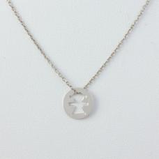 Naszyjnik srebro rodowane dziewczynka 45cm, Ag925