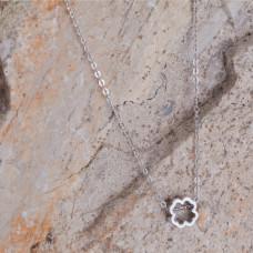 Srebrny rodowany naszyjnik koniczynka 46cm, Ag925