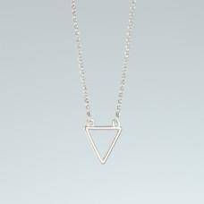 Srebrny rodowany naszyjnik trójkąt, próba Ag925 44cm