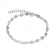 Bransoletka z kryształkami silver grey ag925