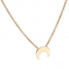 Naszyjnik różowe złoto z półksiężycem ag925
