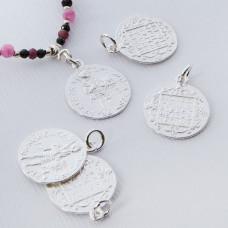 Srebrna moneta zawieszka wojownik 15mm