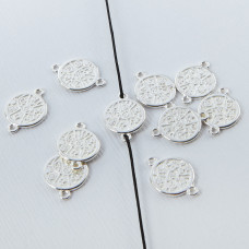 Srebrna moneta mała łącznik 10,5mm
