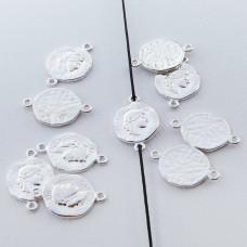 Srebrna moneta antyczna mała łącznik 11mm