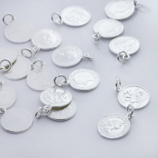 Srebrna zawieszka moneta Królowa Elżbieta AG925 srebrny 11mm