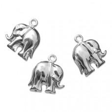 Srebrna zawieszka słoń duży 28mm, Ag925