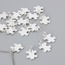 Srebrna celebrytka puzzel 15,5x13mm, Ag925