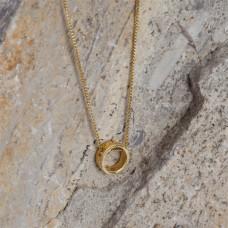 Srebrny, pozłacany koralik - obrączka, próba Ag925 7,5mm