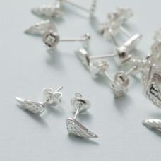 Kolczyki skrzydła ażurowe ag925 srebrny