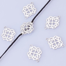 Srebrny łącznik kwiatek wycięty AG925 18.5mm