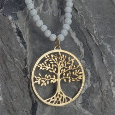 Srebrna, złocona zawieszka ażurowa drzewo rodziny, próba Ag925 33,5mm