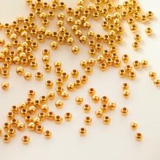 Kulki gładkie GOLDFILLED AU585 3mm