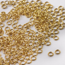 Kółeczka sprężynki GOLDFILLED AU585 złoty 5mm