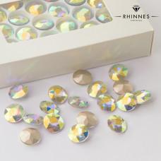 Kryształy Rhinnes flat diamond crystal AB 14mm