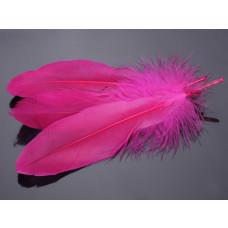 Pióra naturalne barwione koloru różowego 10-16cm