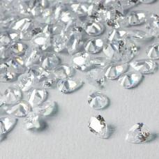 Cyrkonia łezka fasetowana z dziurką crystal 5x7mm