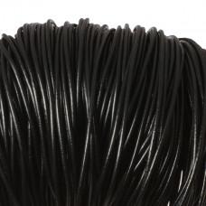 Rzemień naturalny lakierowany czarny 3mm