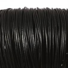 Rzemień naturalny lakierowany czarny 2,5mm