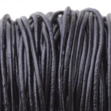 Rzemień naturalny lakierowany czarny 1mm