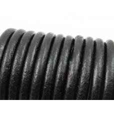 Rzemień naturalny czarny 6mm