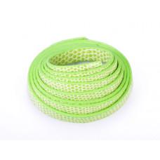 Rzemień płaski łuski zielony 8x1,5mm