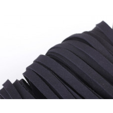 Rzemień płaski zamszowy czarny 10x1,5mm
