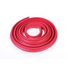 Rzemień półokrągły szyty czerwony 10x5mm