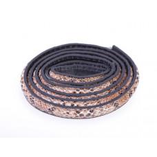 Rzemień półokrągły szyty wężowy 10x5mm
