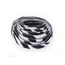 Pasek do bransoletek włochaty zebra biała 8x1,5mm