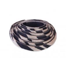 Pasek do bransoletek włochaty zebra złota 8x1,5mm