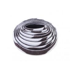 Pasek do bransoletek włochaty zebra srebrzysta 8x1,5mm