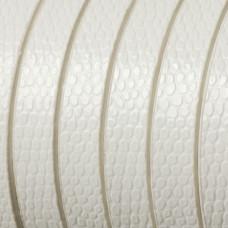 Rzemień płaski łuski białe 8x1,5mm