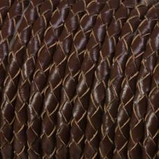 Rzemień naturalny pleciony brązowy 4mm