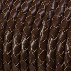 Rzemień naturalny pleciony brązowy 5mm