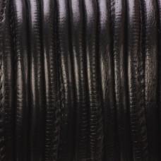 Rzemień szyty czarny 4mm
