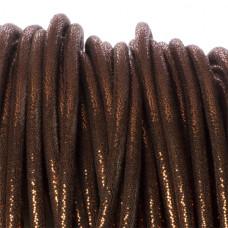 Rzemień szyty brown metallic 6mm