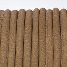 Rzemień szyty jasno brązowy z brokatem 6mm