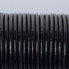 Rzemień klejony błyszczący czarny bambusowy 3mm