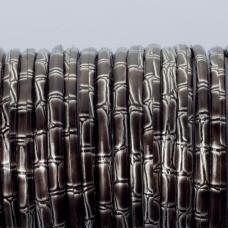 Rzemień klejony srebrno czarny 3mm